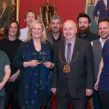 The Celebrate Aberdeen team with Lord Provost George Adam.